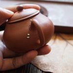 19the Century Yixing Teapot. Metal Staple repair.