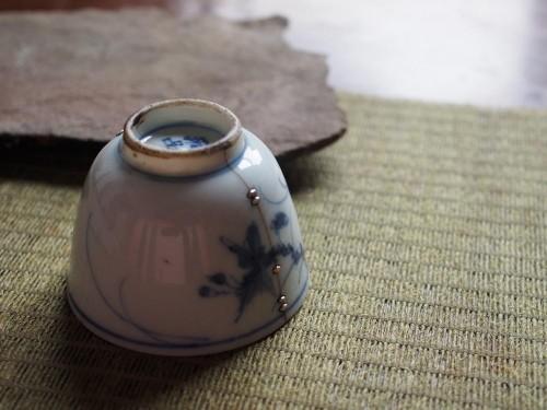 Japanese Teacup | Metal staple repair