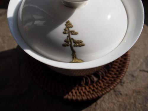 Gaiwan | Pine Tree Maki-e Kintsugi repair