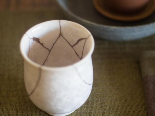 Japanese Fluted Cup | Kintsugi