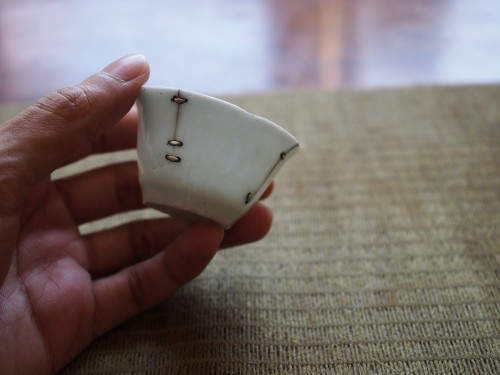 Ming Dynasty Teacup | Metal Staple repair
